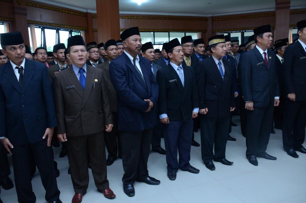Pelantikan Pejabat Eselon II, III, IV dan Kepala Sekolah Oleh Bupati OKI