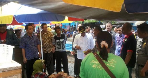 Iskandar SE Tinjau Pasar Pagi Kayuagung