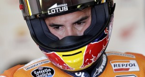Honda MotoGP rider Marc Marquez of Spain looks on in the box during the second free practice of the San Marino Grand Prix in Misano Adriatico circuit in central Italy, September 11, 2015. REUTERS/Max Rossi