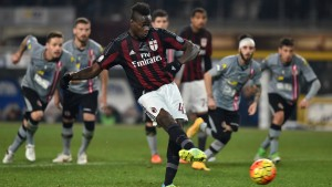 during the TIM Cup match between US Alessandria and AC Milan at Olimpico Stadium on January 26, 2016 in Turin, Italy.