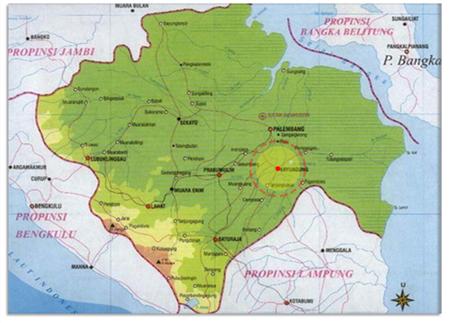 peta kabupaten oki sumatera selatan