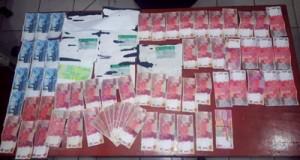 UANG PALSU -- Polres OKI kembali mengamankan uang palsu dari warga Desa Pematang Panggang Mesuji OKI