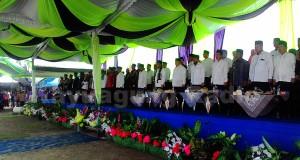 Jajaran Pemerintah Kabupaten OKI Beserta Forum Pondok Pesantrean Saat Penutupan STQ XXIV