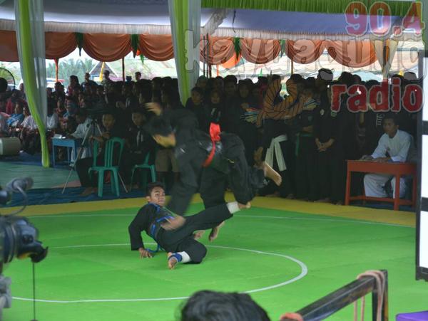 190 pendekar dari 11 perguruan silat di Kabupaten Ogan Komering (OKI) Adu Jurus.