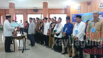 Wakil Bupati OKI H. M. Rifa'i SE Kukuhkan Dewan Hakim MTQ KORPRI ke-I tingkat Kabupaten OKI.