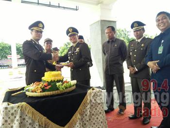Peringatan HUT Bhayangkara Ke 71 Kabupaten OKI.